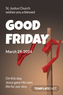 Free Good Friday Church Tumblr Post Template