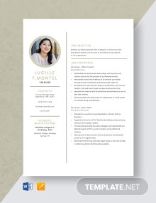 Car Buyer Resume Template