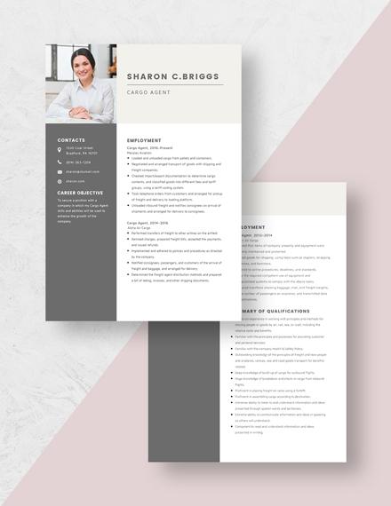 Cargo Agent Resume Download