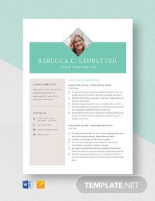 Church Choir Director Resume Template