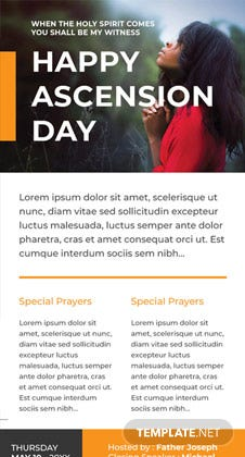 Free Ascension Day Email Newsletter Template