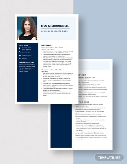 Clinical Resource Nurse Resume Download