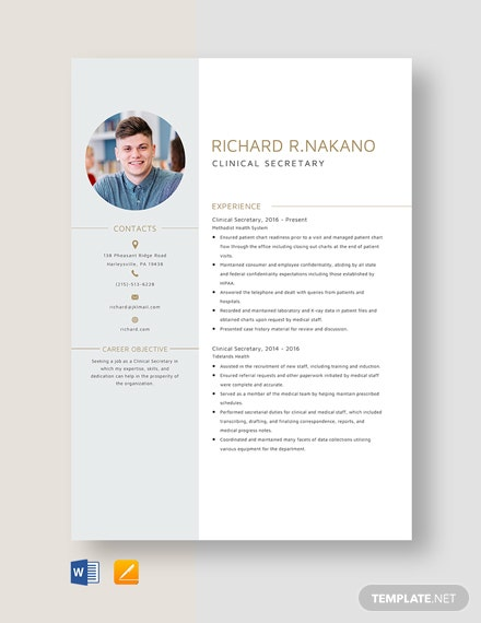download 71  clinical resume templates