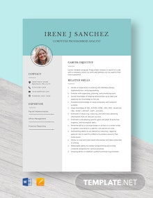 Computer Programmer Analyst Resume Template