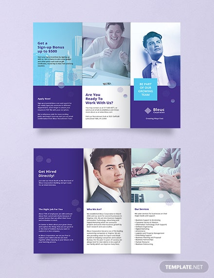 free recruitment brochure template