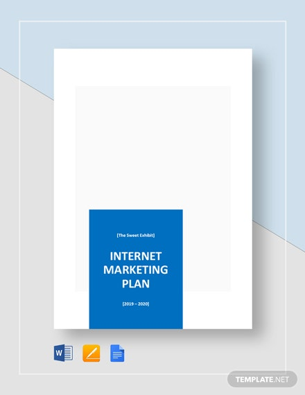 Simple Internet Marketing Plan Template