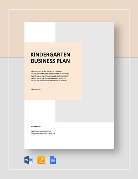 Kindergarten Business Plan