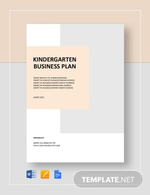 Kindergarten Business Plan Template