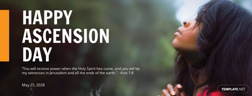 Free Ascension Day Facebook App Cover Template