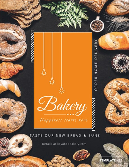 Free Bakery Store Flyer Template