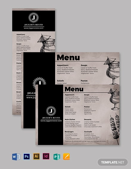 Lunch Dinner Menu Template