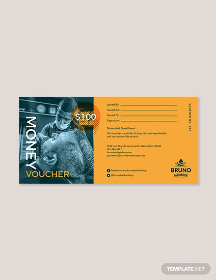 $100 Money Voucher Template