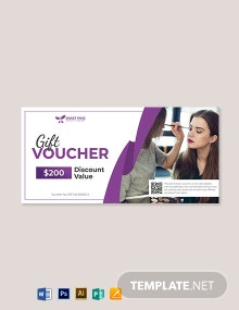 Blank Salon voucher template