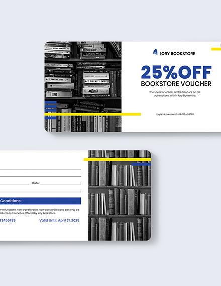 Book Store Shopping Voucher Download