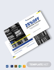 Book Store Shopping Voucher Template