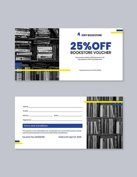 Book Store Shopping Voucher Template