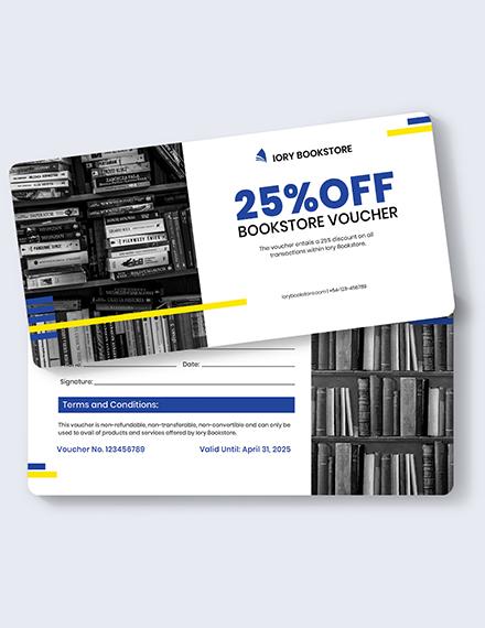 Sample Book Store Shopping Voucher