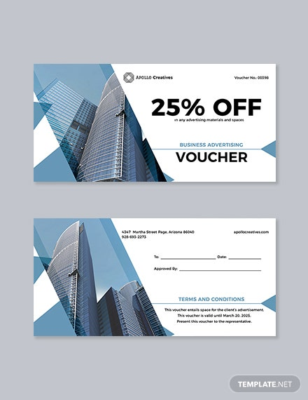 Business Advertising Voucher Template