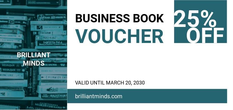 Business Book Voucher Template