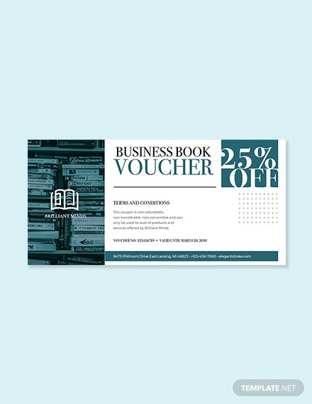 Business Book Voucher Template