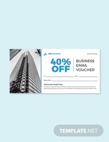 Business Email Voucher Template