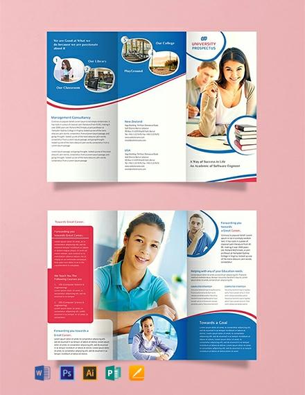 Free University Tri-Fold Brochure Template