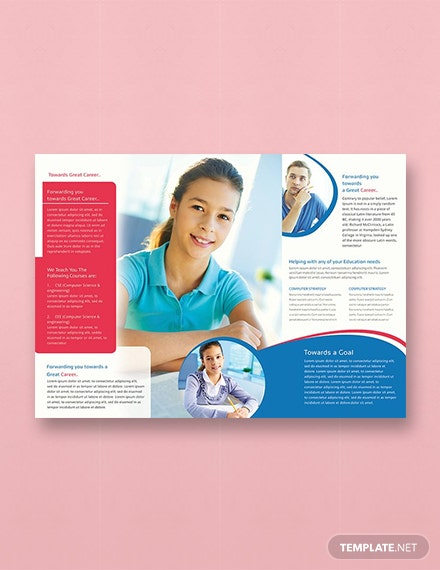 Free University TriFold Brochure Template