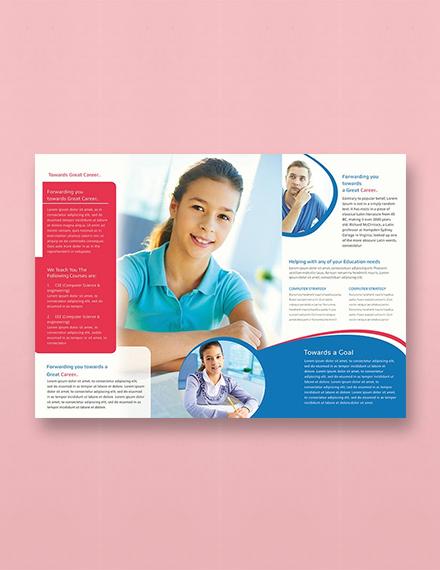 Free University TriFold Brochure Template
