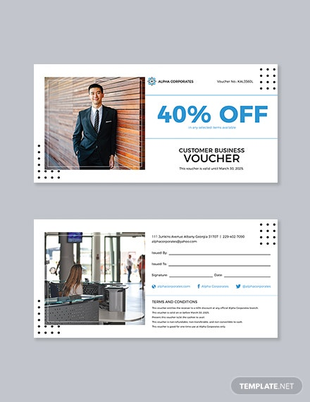 Customer Business Voucher Template