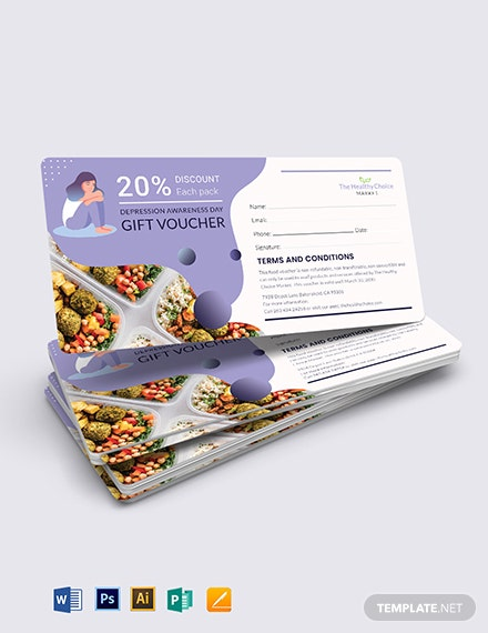 Depression Food Voucher Template