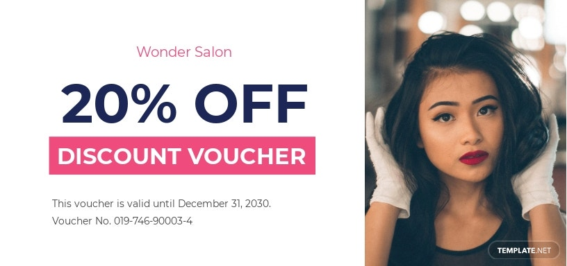 Discount Salon voucher template