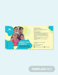 Donation Money Request Voucher Template