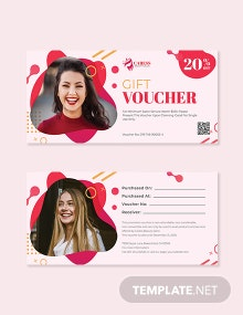 Editable Salon voucher template