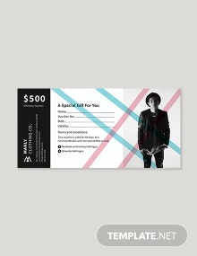 Gift  Money Voucher Template