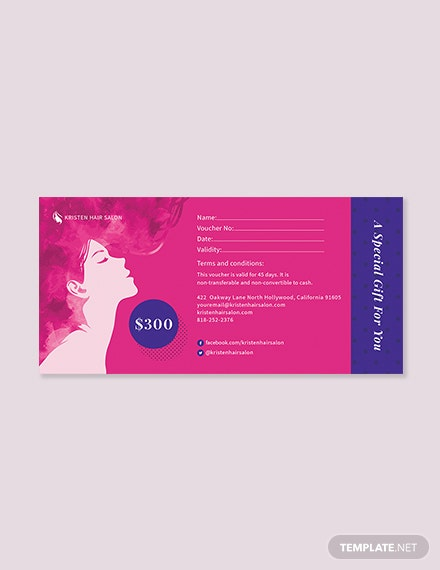 Gift Card Money Voucher Template