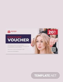 Hair Cut Salon voucher template