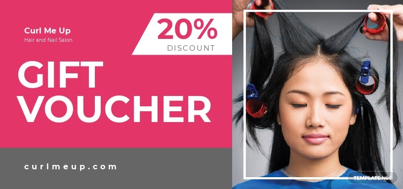 Hairdressing Salon voucher template