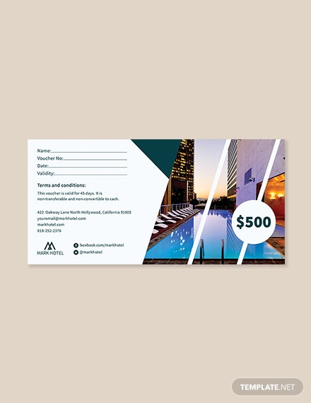Hotel Money Voucher Template