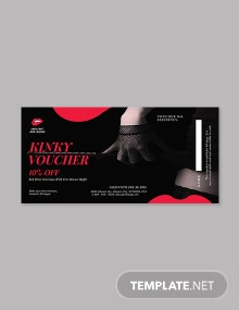 Kinky Romantic Love Voucher Template