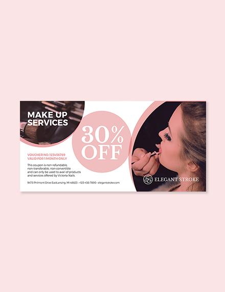 Beauty & Makeup Artist Voucher Template