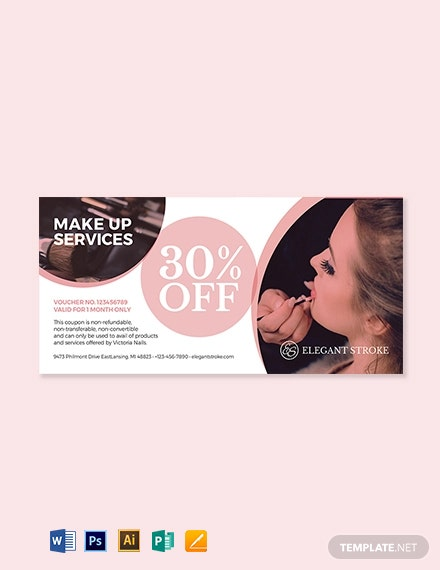 Beauty & Makeup Artist Voucher Template