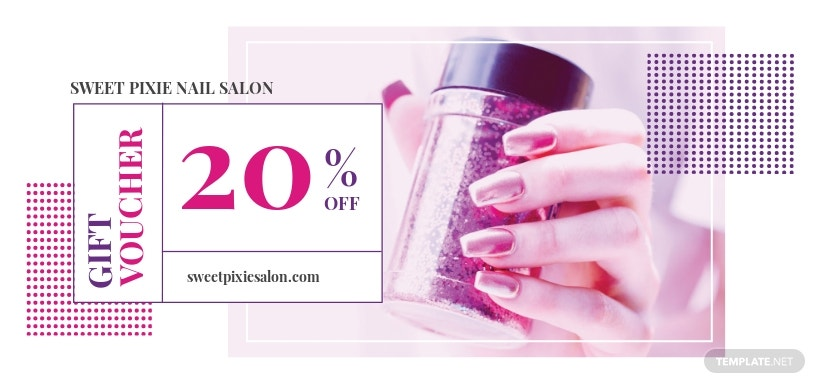 Nail Salon Voucher Template