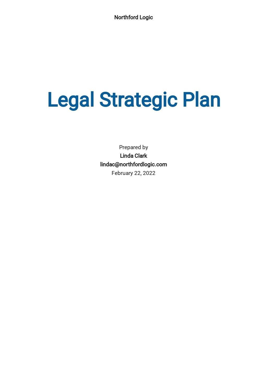 Legal Strategic Plan Template