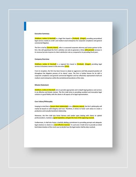 Legal Strategic Plan Download