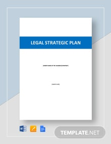 Legal Strategic Plan Template