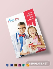 Free Child Care Bi-fold Brochure Template