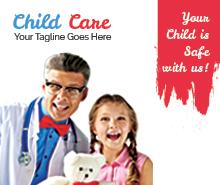 Free Child Care Bi-fold brochure Template