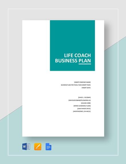 Life Coach Business Plan Template