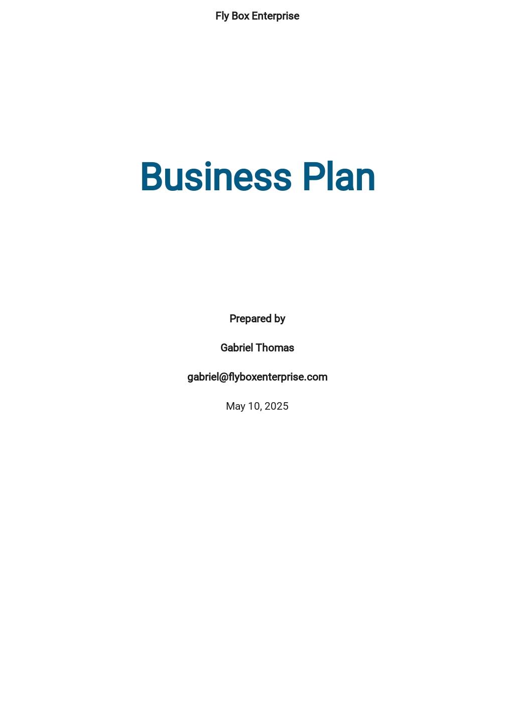 Logistics Business Plan Template.jpe