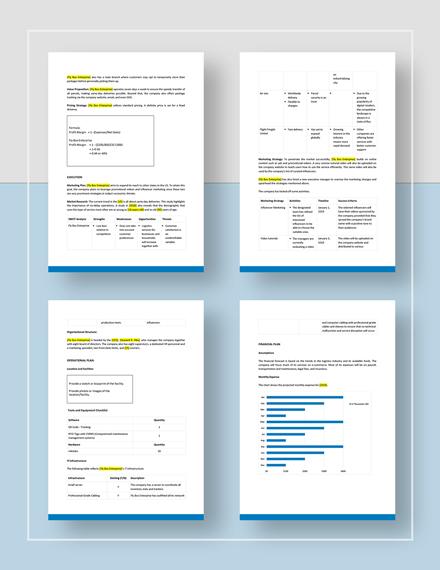 Logistics Business Plan Download